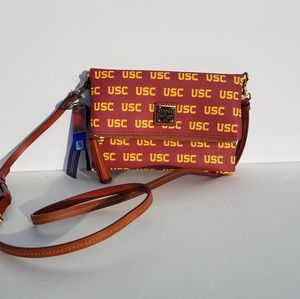 Dooney and Bourke USC Foldover crossbody purse